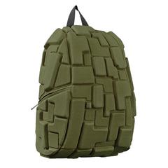 """Рюкзак MADPAX """"Blok Full"""", универсальный, молодежный, 32 л, темно-зеленый, """"Блоки"""", 46х35х20 см"""