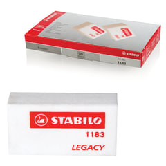 Резинка стирательная STABILO, прямоугольная, 35х18х11 мм, белая