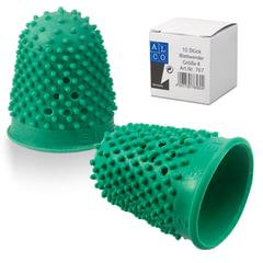 Напальчник для бумаги резиновый, диаметр 20 мм, высота 32 мм, ALCO (Германия) 767, зеленый