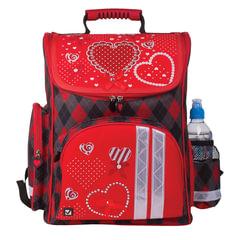 """Ранец жесткокаркасный BRAUBERG (БРАУБЕРГ), для учениц начальной школы, """"Сердце"""", 20 литров, 38х29х16 см"""