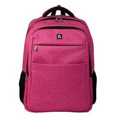 """Рюкзак BRAUBERG универсальный с отделением для ноутбука, розовый, """"Омега"""", 32 литра, 49х35х18 см"""