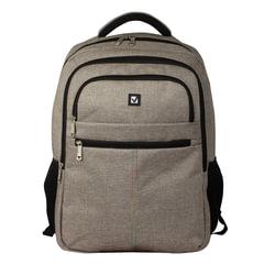 """Рюкзак BRAUBERG универсальный с отделением для ноутбука, серый, """"Омега"""", 32 литра, 49х35х18 см"""