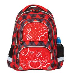 """Рюкзак BRAUBERG (БРАУБЕРГ), с EVA спинкой, для учениц начальной школы, """"Сердце"""", 12 литров, 38х30х14 см"""