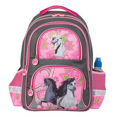 """Рюкзак BRAUBERG (БРАУБЕРГ), с EVA спинкой, для учениц начальной школы, """"Лошади"""", 12 литров, 38х30х14 см"""