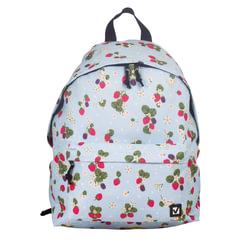 """Рюкзак BRAUBERG универсальный, сити-формат, бежевый, """"Ягоды"""", 20 литров, 41х32х14 см"""