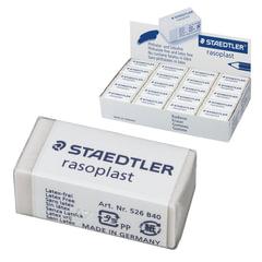 """Резинка стирательная STAEDTLER (Германия) """"Rasoplast"""", 33x16x13 мм, белая, картонный держатель, дисплей"""