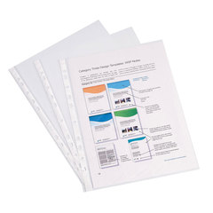 Папки-файлы перфорированные, A4, ERICH KRAUSE, комплект 100 шт., гладкие, эконом, 30 мкм