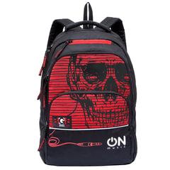 """Рюкзак GRIZZLY для старшеклассников/студентов/молодежи, """"Череп"""", 28 литров, 32х45х23 см"""