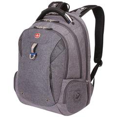 Рюкзак WENGER, универсальный, серый, черные вставки, функция ScanSmart, 31 л, 47х34х20 см
