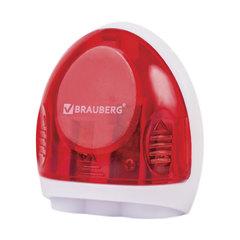 """Точилка BRAUBERG """"Tern"""" с контейнером, пластиковая, овальная, 3 отверстия, цвет ассорти, 226939"""