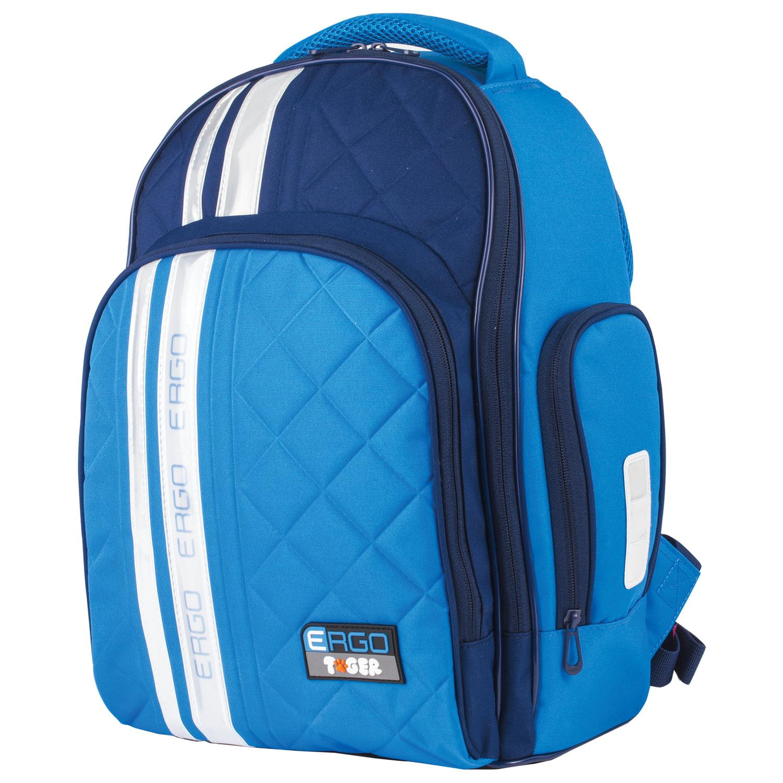 a4bb6a3b060d Рюкзак TIGER FAMILY (ТАЙГЕР) с ортопедической спинкой для средней школы,  голубой/синий