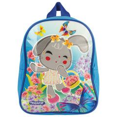 """Рюкзак ПИФАГОР для дошкольниц, глянец, """"Зайка с цветочками"""", 25х20х10 см"""