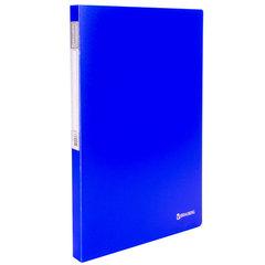 """Папка с металлическим скоросшивателем и внутренним карманом BRAUBERG """"Neon"""", 16 мм, синяя, до 100 листов, 0,7 мм, 227467"""