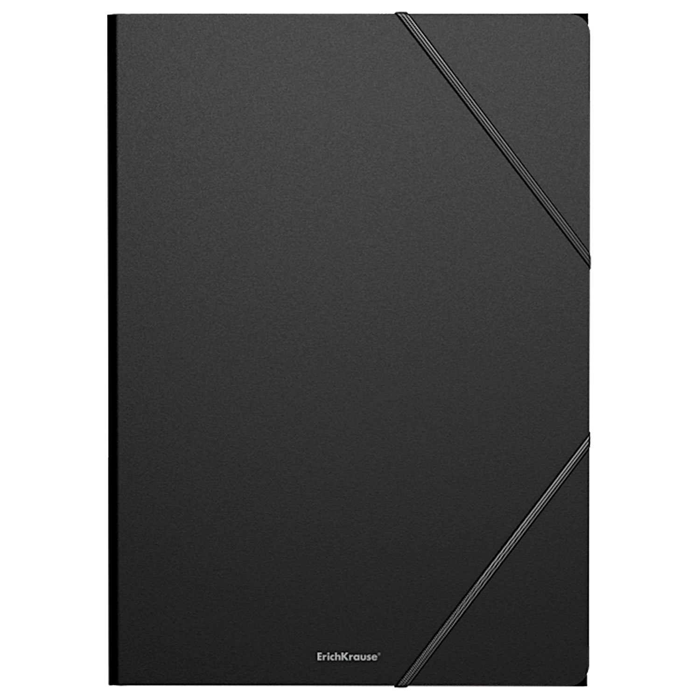 """Папка на резинках ERICH KRAUSE """"Classic"""", А4, до 300 листов, 400 мкм, черная, 43092, 47189"""