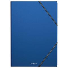 """Папка на резинках ERICH KRAUSE """"Classic"""", А4, до 300 листов, 400 мкм, синяя"""