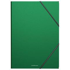 "Папка на резинках ERICH KRAUSE ""Classic"", А4, до 300 листов, 400 мкм, зеленая"