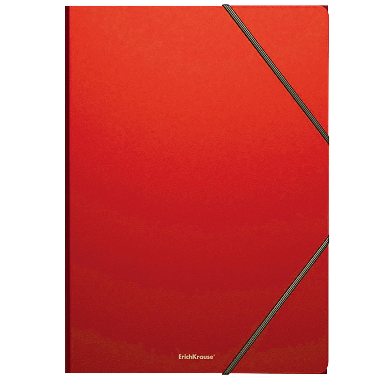 "Папка на резинках ERICH KRAUSE ""Classic"", А4, до 300 листов, 400 мкм, красная, 43095"