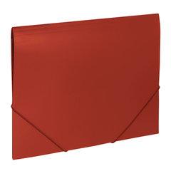"Папка на резинках BRAUBERG ""Office"", красная, до 300 листов, 500 мкм"