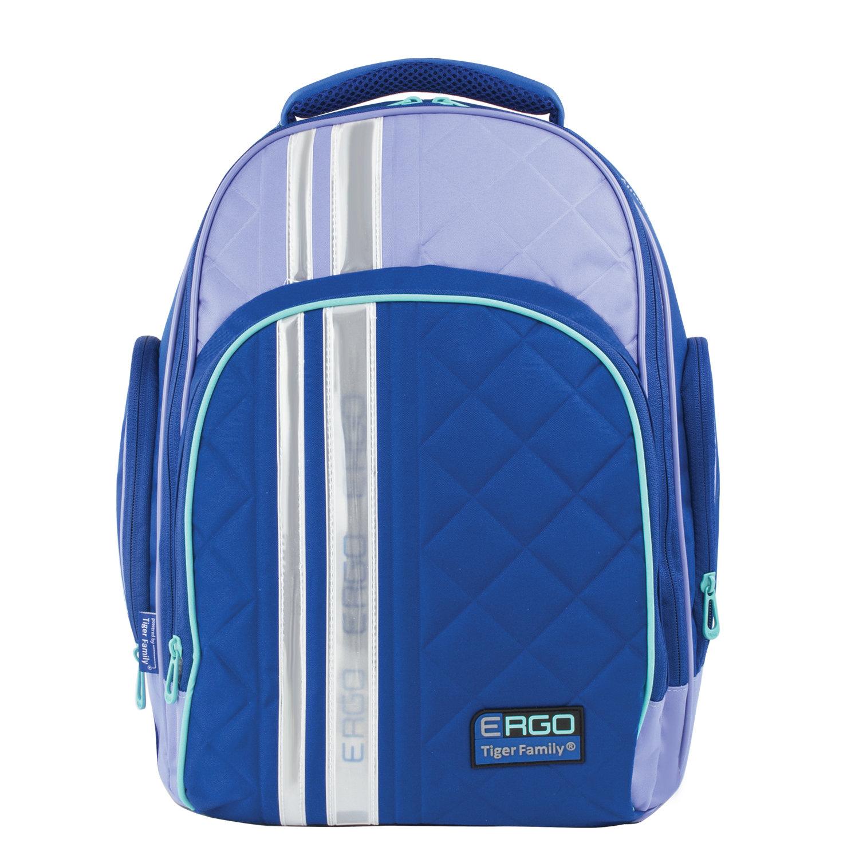 32b052011420 Рюкзак TIGER FAMILY (ТАЙГЕР) с ортопедической спинкой для средней школы,  синий/голубой