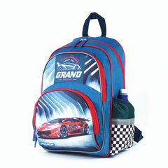 Рюкзак ПИФАГОР+ для учеников начальной школы, Красная машина, 40х30х15 см