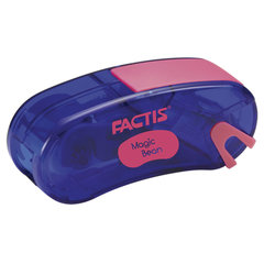 Точилка FACTIS Magic Bean (Испания), с контейнером и стирательной резинкой, 65x30x20 мм, ассорти
