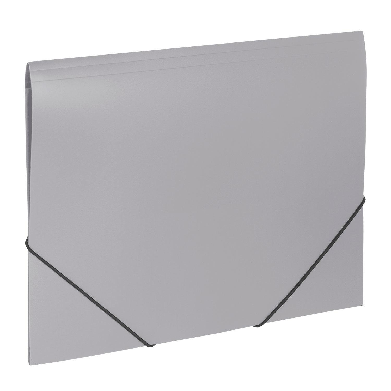 """Папка на резинках BRAUBERG """"Office"""", серая, до 300 листов, 500 мкм"""