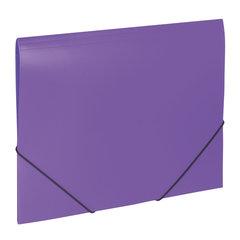 """Папка на резинках BRAUBERG """"Office"""", фиолетовая, до 300 листов, 500 мкм"""