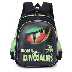 Ранец GRIZZLY формованный, для начальной школы, мальчик, Динозавр, 28х36х20 см