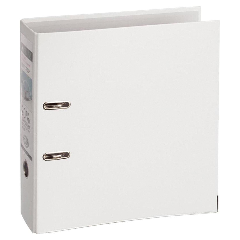 Папка-регистратор LEITZ, механизм 180°, с покрытием пластик, 80 мм, белая