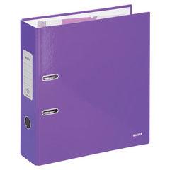 Папка-регистратор LEITZ, механизм 180°, с покрытием пластик, 80 мм, фиолетовая