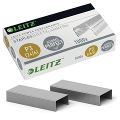 """Скобы для степлера LEITZ """"Power Performance P3"""" № 24/6, 1000 шт., до 30 листов, 55700000"""