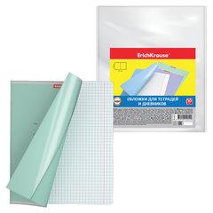 Обложки ПП для тетради и дневника ERICH KRAUSE, комплект 10 шт., прозрачные, 50 мкм, 212х347 мм