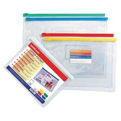 Папка-конверт на молнии, формат B5 (288х210 мм), прозрачная, 0,14 мм, ERICH KRAUSE
