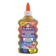 "Клей для слаймов канцелярский с блестками ELMERS ""Glitter Glue"", 177 мл, золотой, 2077251"