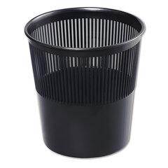 Корзина для бумаг, 9 л, сетчатая, черная, СТАММ