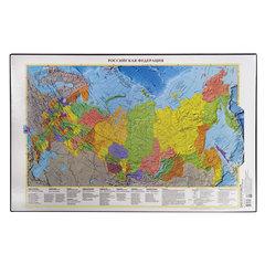 """Коврик-подкладка настольный для письма, с картой России, 380х590 мм, """"ДПС"""""""