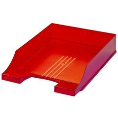 """Лоток горизонтальный для бумаг BRAUBERG """"Energy"""" (БРАУБЕРГ """"Энерджи""""), тонированный красный"""
