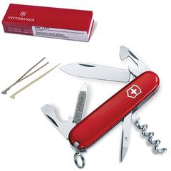 """Подарочный нож VICTORINOX """"Sportsman"""", 84 мм, складной, красный, 13 функций"""