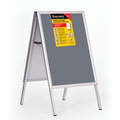 Рамка-штендер для рекламы и объявлений BRAUBERG, напольная, А1, 594х841 мм, двухсторонняя, складная