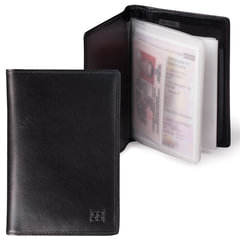 Бумажник водителя SERGIO BELOTTI, натуральная кожа, 6 пластиковых карманов, черный, Италия