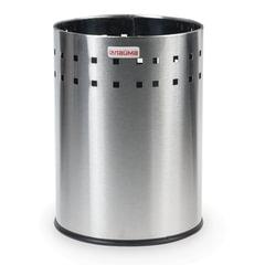 """Корзина металлическая для мусора ЛАЙМА """"Bionic"""", 7 л, матовая, перфорированная, несгораемая, 232267"""