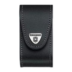 Подарочный чехол для ножей VICTORINOX «Champ», кожа, черный, на липучке, толщина 5-8 уровней, блистер
