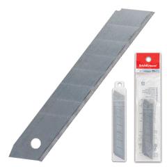 Лезвия для ножей 18 мм КОМПЛЕКТ 10 ШТ., толщина лезвия 0,5 мм, в пластиковом пенале, ERICH KRAUSE