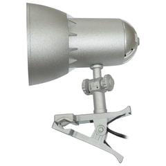 """Светильник настольный """"Надежда-1 Мини"""", на прищепке, лампа накаливания/люминесцентная/светодиодная, до 40 Вт, серебристый, Е27"""