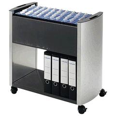 Тележка для подвесных папок DURABLE, на 80 папок А4, цвет серебристый/угольный
