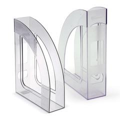 """Лоток вертикальный для бумаг СТАММ """"Респект"""", ширина 70 мм, прозрачный"""