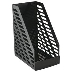 """Лоток вертикальный для бумаг СТАММ """"XXL"""", ширина 160 мм, полипропилен, черный"""