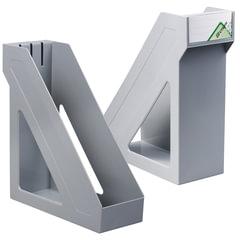 """Лоток вертикальный для бумаг СТАММ """"Базис"""", ширина 100 мм, серый"""