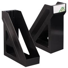 """Лоток вертикальный для бумаг СТАММ """"Базис"""", ширина 100 мм, черный"""