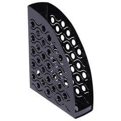 """Лоток вертикальный для бумаг СТАММ """"Вега"""", ширина 90 мм, черный"""